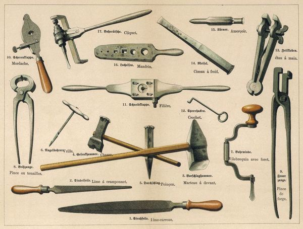 BLACKSMITH'S TOOLS 1875