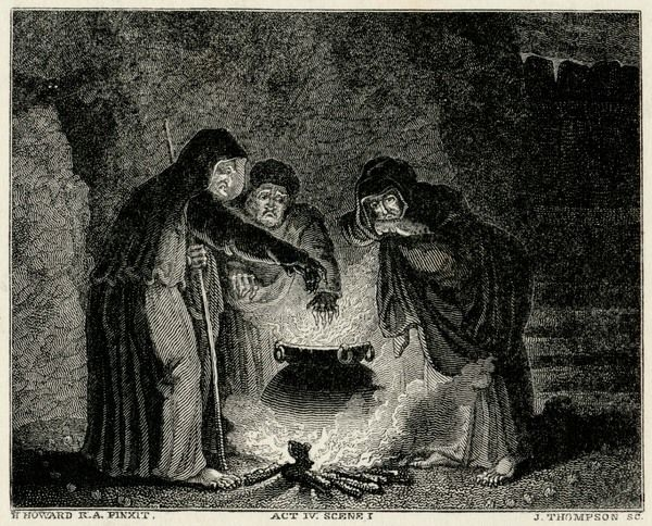 Macbeth/Witches/Cauldron (608330) Framed Prints, Wall Art, Posters