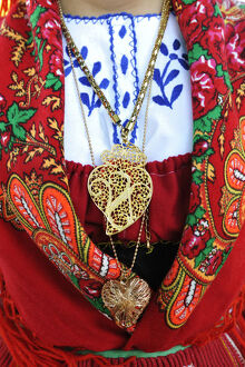 new/20191004 awl 7/gold necklace traditional costume lavradeira