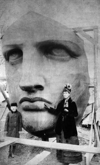 statue liberty/statue liberty 1885 face statue liberty asemblage