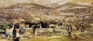 view sheffield england watercolor c1854