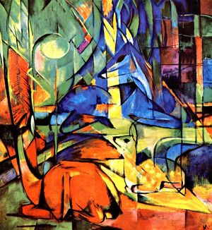 history/franz marc expressionist style painting circa