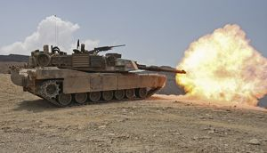military/marines bombard live fire range using m1a1 abrams