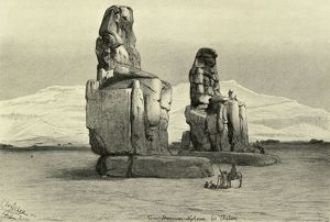 Colossi of Memnon at Thebes, Egypt, 1898. Creator: Christian Wilhelm Allers